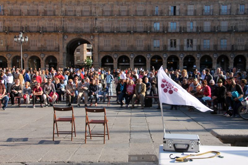 Asamblea Ganemos Plaza Mayor Salamanca