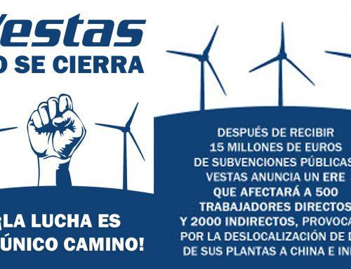 Apoyo a la plantilla de la planta de Vestas ubicada en la provincia de León