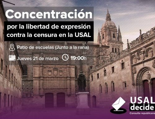 Ganemos garantizará la libertad de expresión en la vía pública ante la censura de la USAL al referéndum sobre el modelo de Estado